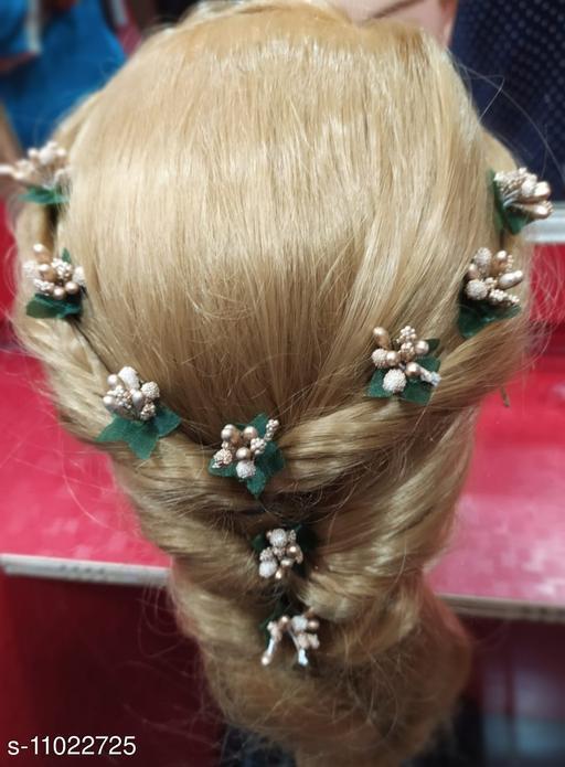 Stamen Artificial golden colour Flowers for hair