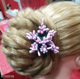 Stamen Artificial pink  colour Flowers for hair