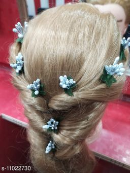 Stamen Artificial silver colour Flowers for hair