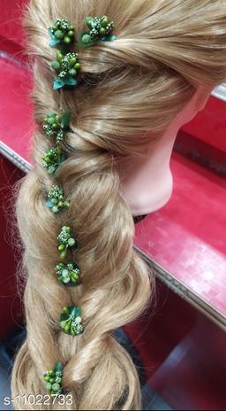 Stamen Artificial dark green colour Flowers for hair