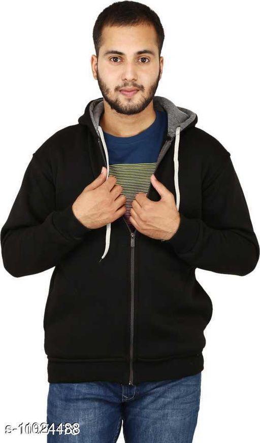 Full Sleeve Solid Men Sweatshirt