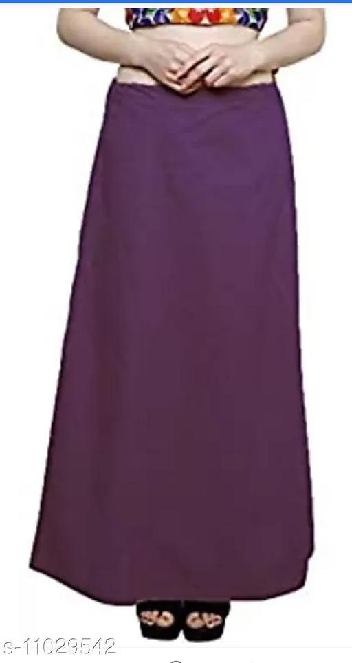 Women's Solid Cotton Petticoat