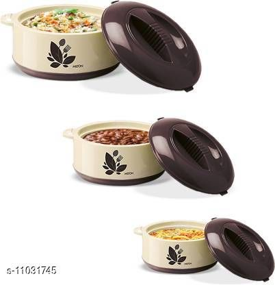 Others Stylo Casseroles & Serveware  *Material* Plastic  *Pack* Multipack  *Country of Origin* India  *Sizes Available* Free Size *    Catalog Name: Essential Casseroles & Serveware CatalogID_2046973 C80-SC1256 Code: 808-11031745-
