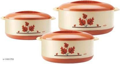 Others Stylo Casseroles & Serveware  *Material* Plastic  *Pack* Multipack  *Country of Origin* India  *Sizes Available* Free Size *    Catalog Name: Essential Casseroles & Serveware CatalogID_2046973 C80-SC1256 Code: 808-11031753-
