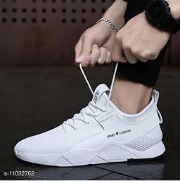 Beautiful Men's White Casual Shoes