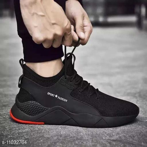 Moder Attractive Stylish Black Color Sport Look Shoe For Men