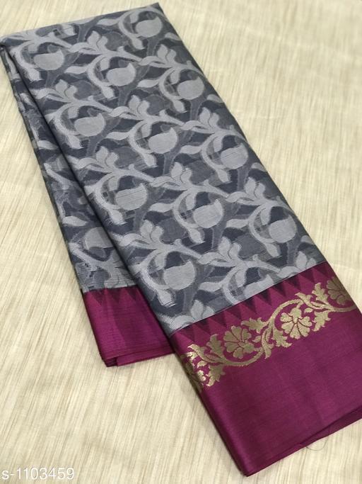 Glamorous Banarasi Kora Muslin Silk Saree