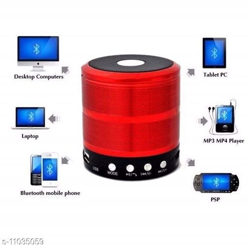Bluetooth Speakers  FLYBEAT Mini Bluetooth Speaker WS-887 with FM Radio, Memory Card Slot, USB Pen Drive, AUX  (Multycolour)  *Product Name* FLYBEAT Mini Bluetooth Speaker WS-887 with FM Radio, Memory Card Slot, USB Pen Drive, AUX  (Multycolour)  *Brand Name* FLYBEAT  *Material* Plastic  *Type* Wireless  *Compatibility* All Mobile Devices  *Color* Assorted  *Bluetooth Version* 4.0  *Charging Type* Micro USB  *FM* Yes  *USB* Yes  *MP3 Player* Yes  *Aux* Yes  *Micro SD* Yes  *Control Button* Yes  *Sweat Proof* Yes  *Mic* Yes  *Sports Earphones* No  *Sizes*  Free Size  *Country of Origin* India  *Sizes Available* Free Size *    Catalog Name: FLYBEAT Bluetooth Speakers CatalogID_2047716 C88-SC1330 Code: 454-11035059-