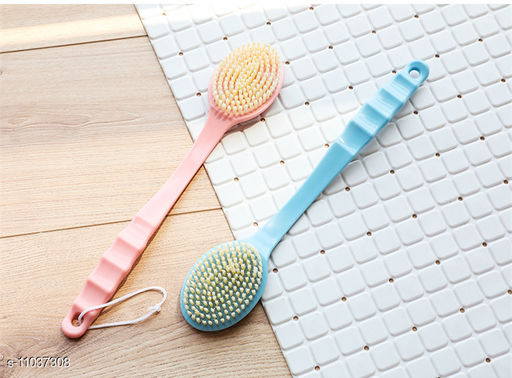 Soft Bristle Body Scrubbing Bathing Brush - Color May Vary