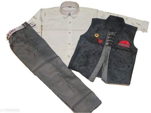 Ethnic Jackets Flawsome Elegant Boys Ethnic Jackets  *Fabric* Cotton  *Sleeve Length* Long Sleeves  *Combo of* Single  *Sizes*  8-9 Years  *Country of Origin* India  *Sizes Available* 8-9 Years *    Catalog Name: Modern Fancy Boys Ethnic Jackets CatalogID_2051112 C58-SC1171 Code: 958-11048450-