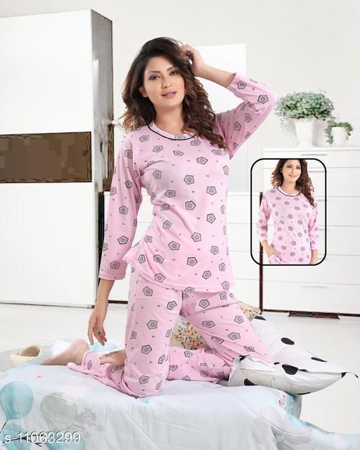 Women Art Silk Nightsuit