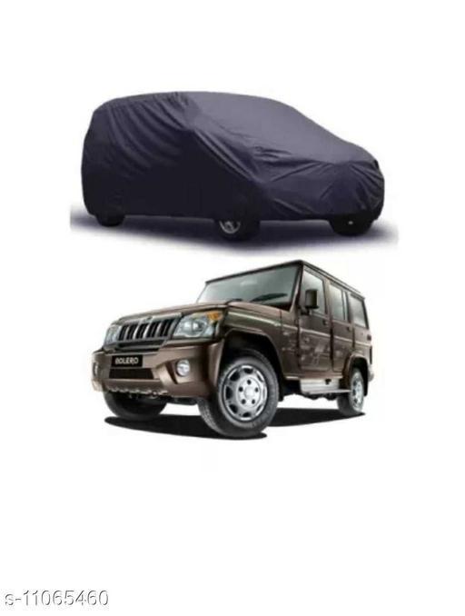 Car Body Cover For Mahindra Bolero Dust & Water Proof Colour Grey