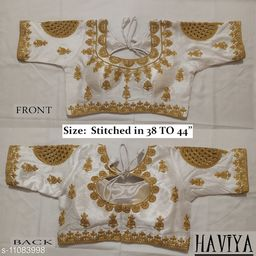 Women's Phantom Silk White Embroidered Stitch Blouse