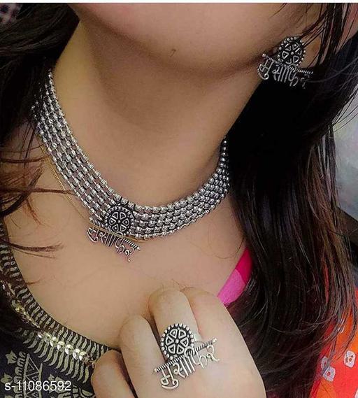 Beautiful Oxidised Necklace