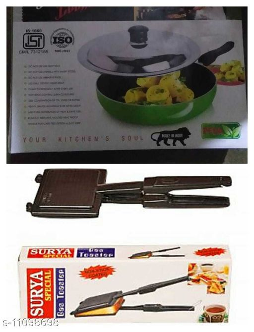 Sandwich Maker toaster with fry pan  *Pack* Multipack  *Sizes*  Free Size  *Country of Origin* India  *Sizes Available* Free Size *    Catalog Name: Wonderful Toasters CatalogID_2063409 C104-SC1490 Code: 218-11098698-
