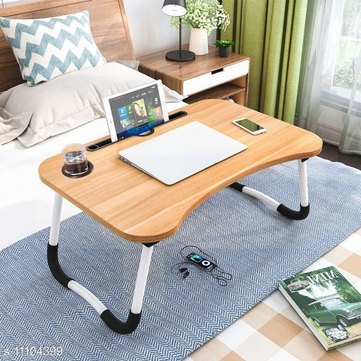 Laptop Adaptor Multi-Purpose Foldable Laptop Table with Dock Stand & Cup Holder Foldable Adjustable Study Table Bed, Gaming Table  Table for Home Ergonomic & Rounded Edges Laptop Stand with Non-Slip Legs  Product Name: Multi-Purpose Foldable Laptop Table with Dock Stand & Cup Holder Foldable Adjustable Study Table Bed Gaming Table  Table for Home Ergonomic & Rounded Edges Laptop Stand with Non-Slip Legs Country of Origin: India Sizes Available: Free Size   Catalog Rating: ★4.3 (228)  Catalog Name: Laptop Adapters CatalogID_2064907 C106-SC1537 Code: 865-11104399-