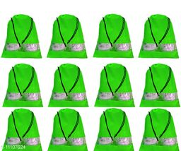 DIMONSIV Pack of 12pcs Shoe Pouch (Green)