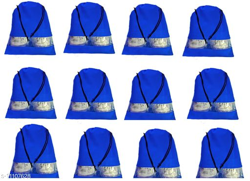 DIMONSIV Pack of 12 shoe pouch(Blue)