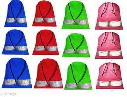 DIMONSIV Pack of 12pcs Multi color Shoe pouch
