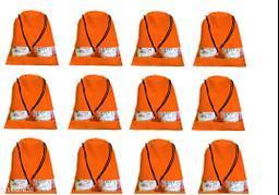 DIMONSIV Pack of 12pcs Shoe Pouch (orange)