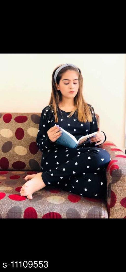 Women Cotton Blend Nightsuit