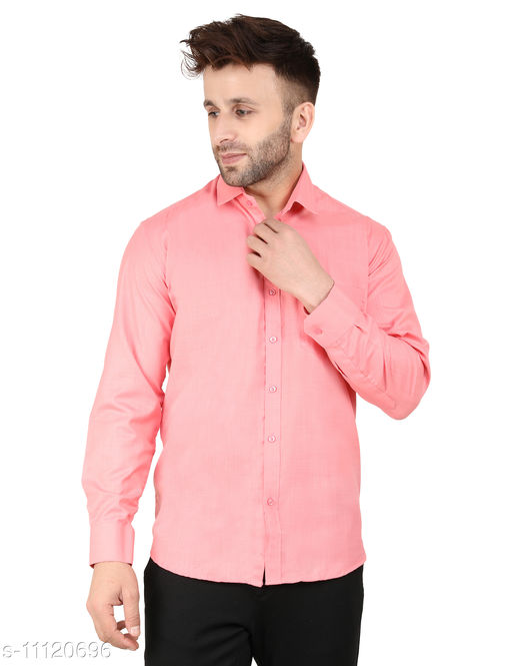 SS Creation Peach Regular Fit Men Formal Shirt