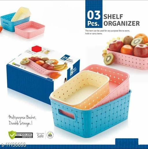 Fruits and Vegetables Basket 3Pcs Pink