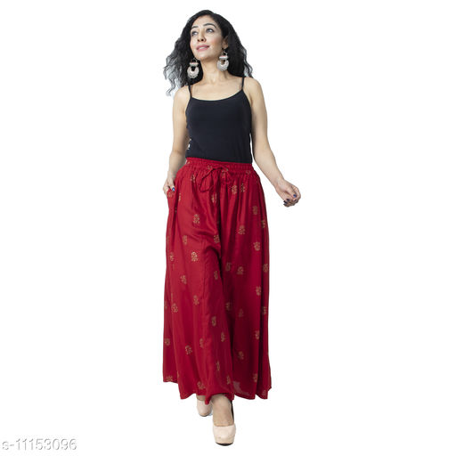 Bharti Creations Printed Skirt Palazzo For Women's and Girls