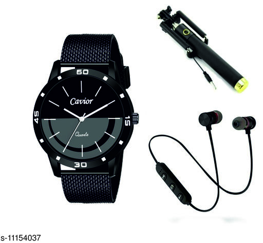 Combo Of Men's Watches With Mobile Accessories