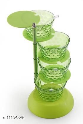 Plastic Adjustable Pickle & Achar Stand for Dining Table Condiment Set - 1 Piece