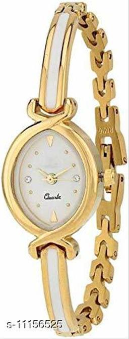Golden Plated Belt Oval Mina Women Watch