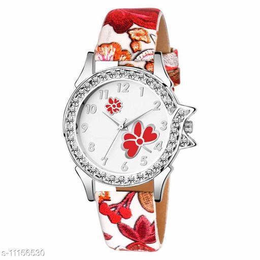 Black Butterfly Diamond Leather Belt Girls Watch