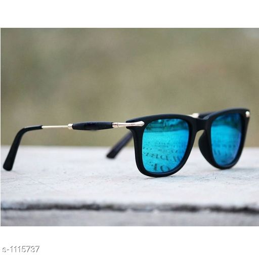 Trendy Men's Blue Sunglasses