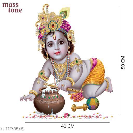 Masstone Natkhat Balkrishna Religious  Decorative Wall Sticker