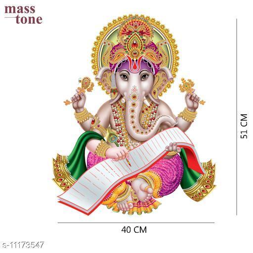 Masstone Lord Ganesha Religious God Decorative Wall Sticker