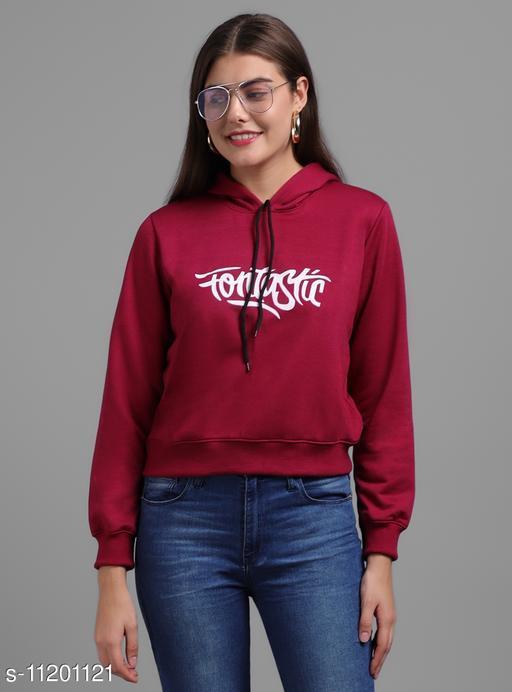 Maroon Fantastic Print SweatShirt