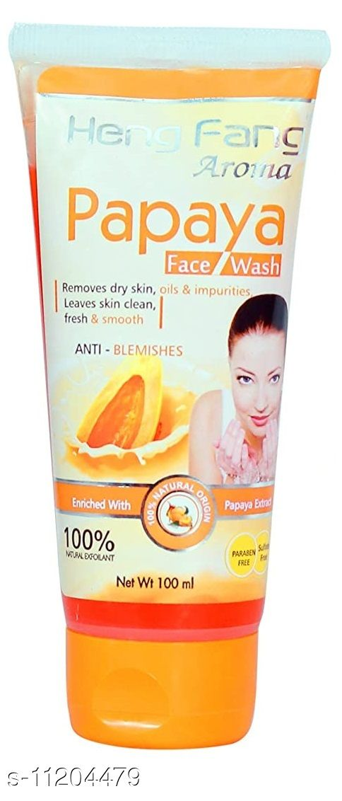 Heng Fang Aroma Papaya Face Wash Removes Dry Skin, Oily & Impurities For Anti-Blemishes (Net Wt 100ml)
