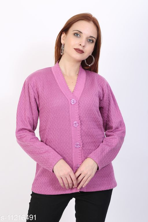 Sweaters BlushhCollection Women Winter Full Sleeve Cardigan (Pack Of 1) Fabric: Wool Sleeve Length: Long Sleeves Multipack: 1 Sizes:  XL (Bust Size: 36 in Length Size: 25 in)  L (Bust Size: 36 in Length Size: 25 in)  M (Bust Size: 36 in Length Size: 25 in) Country of Origin: India Sizes Available: S, M, L, XL *Proof of Safe Delivery! Click to know on Safety Standards of Delivery Partners- https://ltl.sh/y_nZrAV3  Catalog Rating: ★4 (510)  Catalog Name: Trendy Glamorous Women Sweaters CatalogID_1967225 C79-SC1026 Code: 892-11216491-