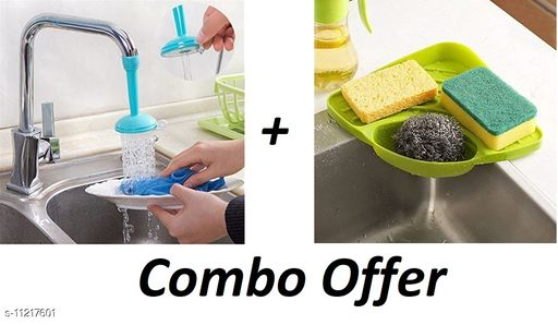 TENIDO Sink Corner and Sink Tap Combo For Home Utility