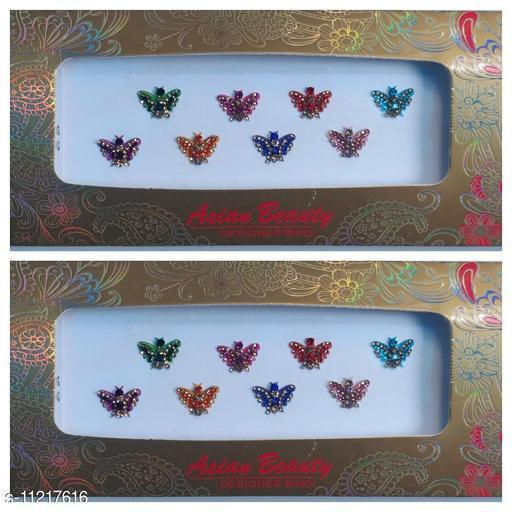 butterfly design bindi set of 2 cards
