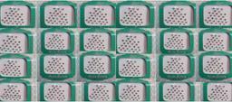 white stone dot bindi 1 box of 24 cards