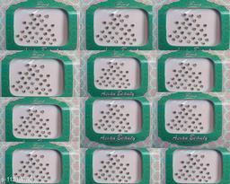 white stone dot bindi set of 12 cards