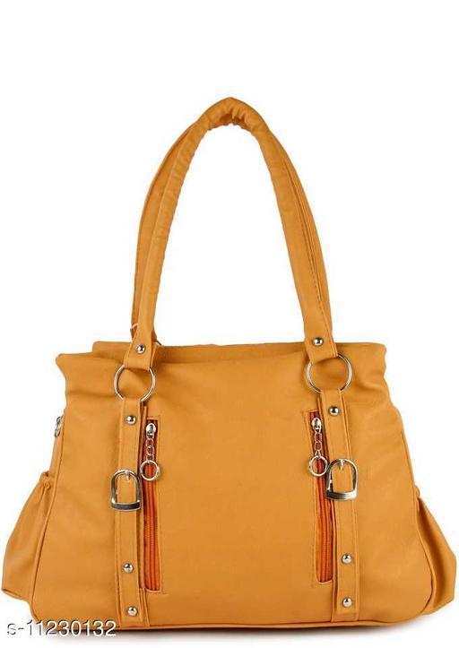 CLASSIC AND STYLISH WOMEN MUSTARD HAND BAG