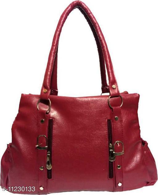 CLASSIC AND STYLISH WOMEN MAROON HAND BAG