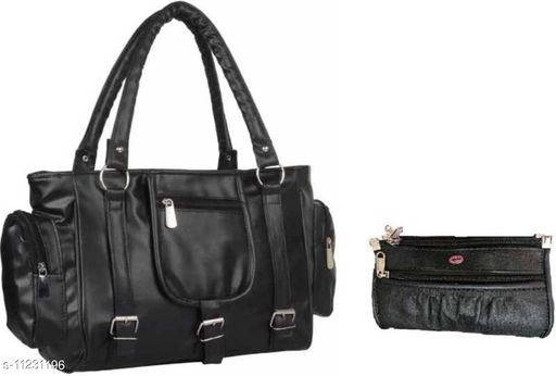 CLASSIC DESIGN BLACK WITH POUCH HAND BAG