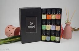 Asian Aura Aroma Diffuser Oil (English Lavander, Eucalyptus, Soft Rose, Cedarwood, Yoga, lemongrass, French Meditation, White jasmine, Vanilla Carmel, Camphor, Patchouli,) 10 ML each Pack Of (12)