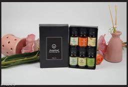 Asian Aura Aroma Diffuser Oil (Fresh Strawberry, Yoga, Cedarwood, Lemongrass, PatchoulI, Vanila caramel) 10 ML each Pack Of (6)