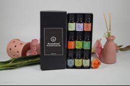 Asian Aura Aroma Diffuser Oil (Fresh Strawberry, Yoga, English Lavender, Soft Rose, Lemongrass, Patchouli, Eucalyptus, camphor, White jasmine) 10 ML each Pack Of (9)