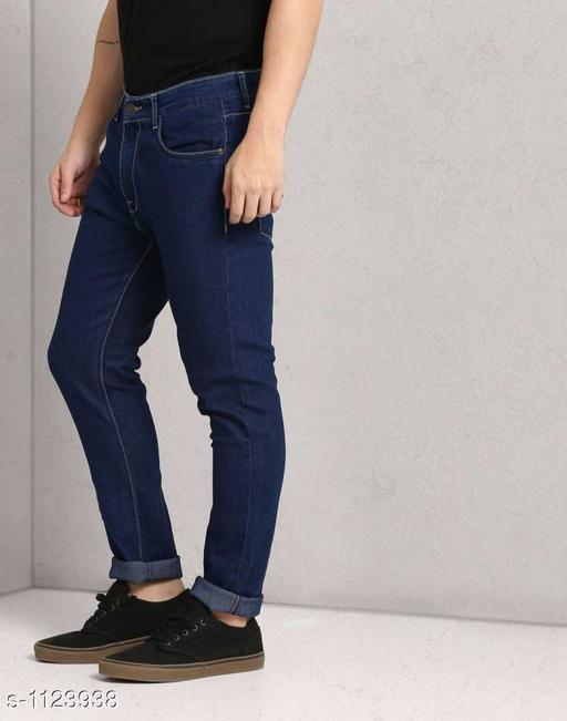 Trendy Denim Solid Jeans