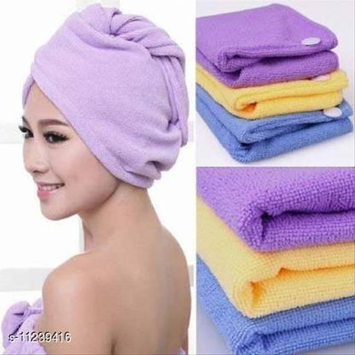 Hair wrape (hair towel) Cotton 475 GSM Hair Towel (Pack of 1)